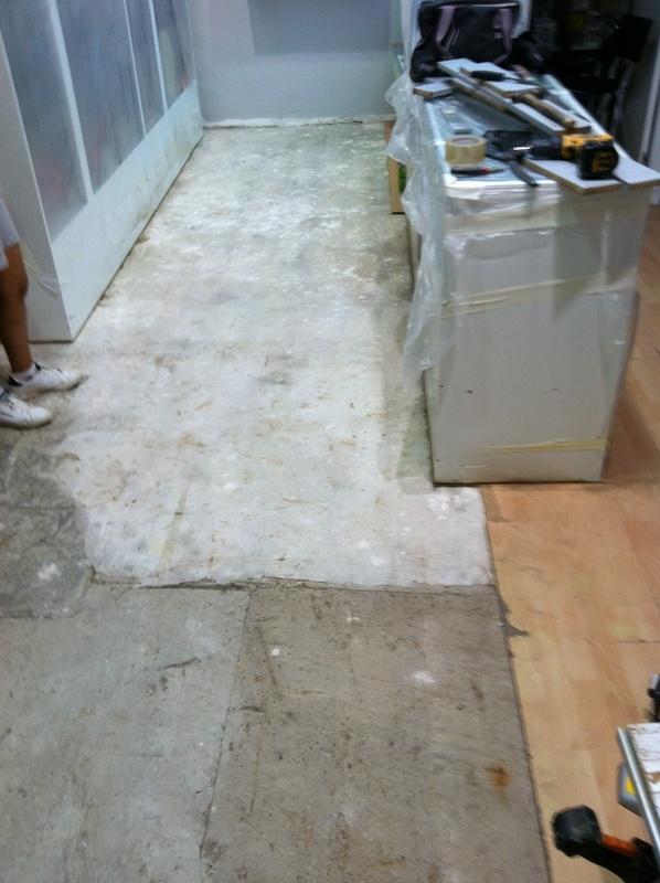 antes de instalacion suelo